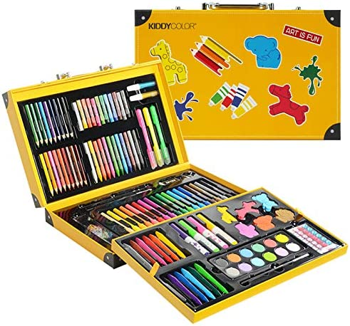 CONDA and Kiddy Color Deluxe Piece with DIY Suitcase Colored Pencils Crayons Painting 159 pcs product image