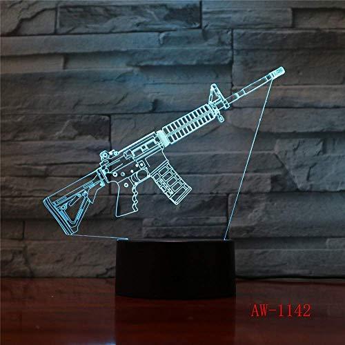 Lampada da sonno 3D Modificabile Attacco dell'umore AK47 Lampada decorativa per la protezione della pistola Giocattoli luminosi con Epacket a 7 colori