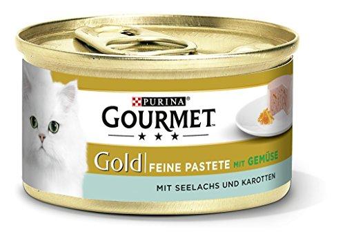 Purina Gourmet Gold Fijne Paté Kattenvoer, Natvoer, met Groenten, 12 Stuks (12 x 85 g Blik)