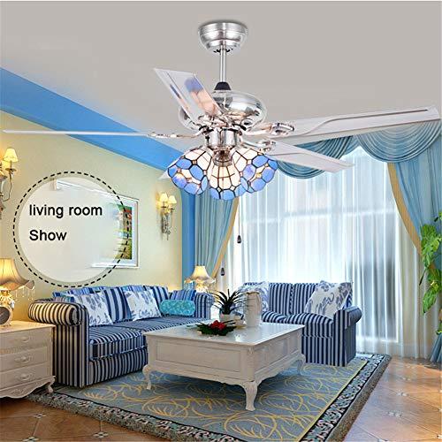 Andersonlight Ventilador de techo mediterráneo con luz LED