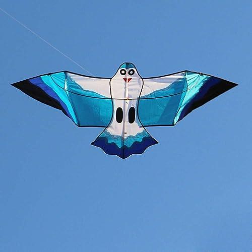 YPKHHH Nouveau Dessin animé créatif Brise de Mouette Grande Facile à Voler en Plein air avec Ligne Roue 200m Ligne 190cm + 90cm