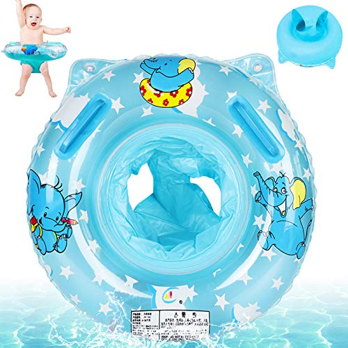 Baby Schwimmring,Blau Baby Float schwimmreifen,Aufblasbarer schwimmreifen Kleinkind,Baby schwimmring mit schwimmsitz,Float Kinder Schwimmring,Aufblasbare Schwimmen,Kinder Schwimmreifen Spielzeug