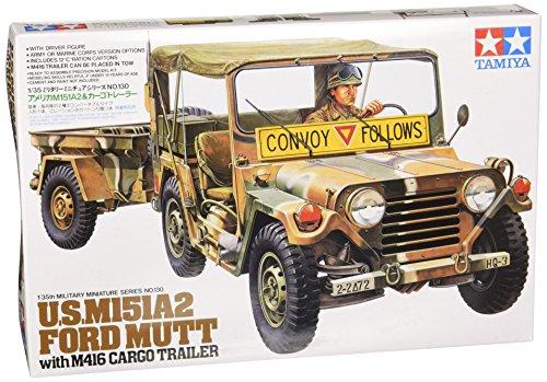 タミヤ 1/35 ミリタリーミニチュアシリーズ No.130 アメリカ陸軍 M151A2&カーゴトレーラー プラモデル 35130