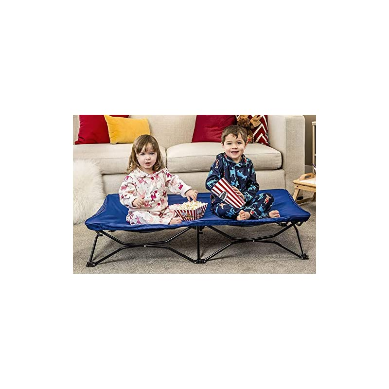 crib bedding and baby bedding regalo my cot portable toddler bed, includes fitted sheet, royal blue
