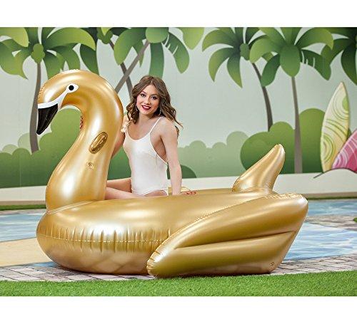 Cisne hinchable Dorado de 200 cm
