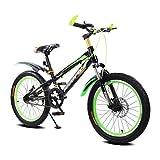 BaoKangShop Bici per Bambini Ciclismo Maschio e Femmina Carrozzina 16 Pollici Mountain Bike 5-8 Anni Bicicletta Triciclo Telaio temperato per Bambini (Color : Green)