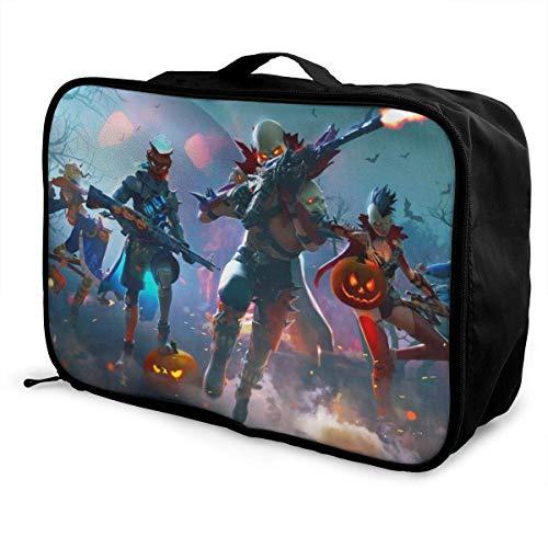 Free Fire Travel Lage Duffel Bag Lightweight Suitcase Portable Bags for Women Men Kids Waterproof Large Bapa Caity