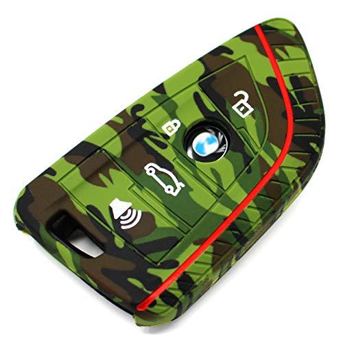 Finest-Folia Coque de Protection en Silicone pour clé de Voiture 4 Boutons Camouflage