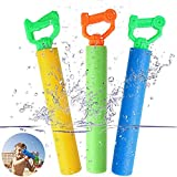 Tinabless Water Guns for Pool Toy, Super Soaker Foam Water Shooter Blaster Set (3 Pack) Outdoor Swimming Pool Summer Fun Party Games Water Squirt Guns for Kids Boys Girls Adults