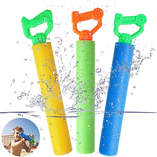Tinabless Water Guns for Pool Toy, Super Soaker Foam Water Shooter Blaster Set (3 Pack) Outdoor...