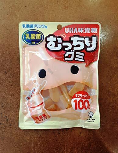 UHA味覚糖 むっちりグミ 乳酸菌ドリンク 100g×6袋