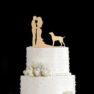 Pointer perro de caza, perro puntero, alemán Shorthign Pointer, decoración para tarta de boda con perro, decoración para pasteles de perro, decoración para tarta de boda de perro