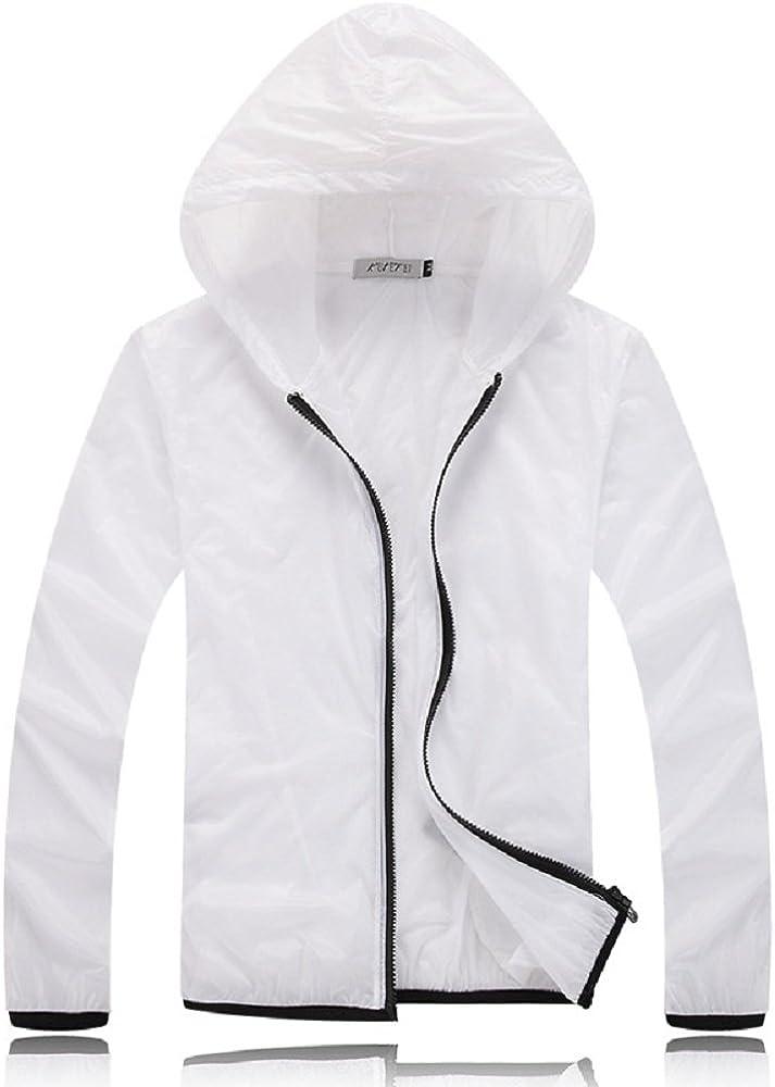 Women Teens Candy Color Windbreaker Casual Hooded Jacket Sports Waterproof Sun Protection Sweatshirt