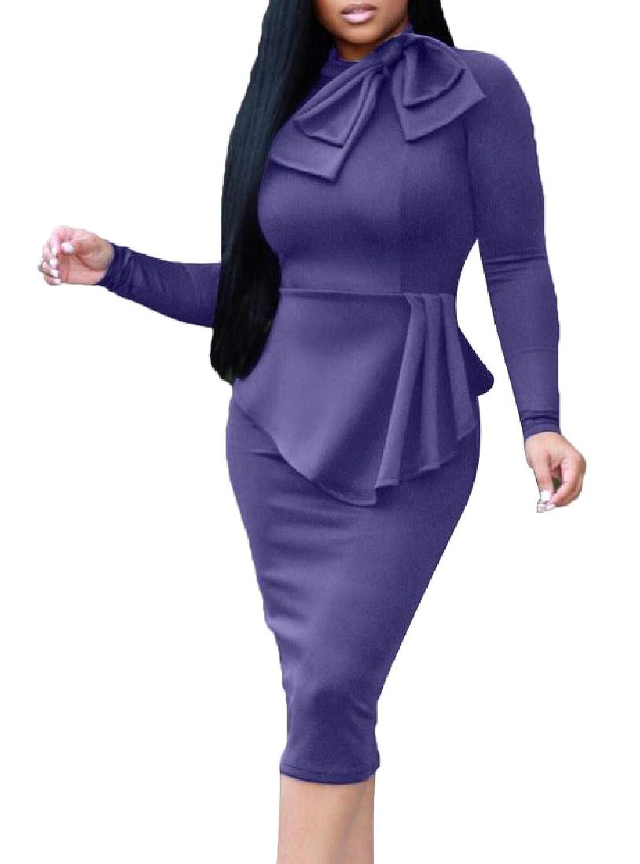 Nicellyer レディース公式ロングスリーブシャツトップボディーコンスカートの衣装