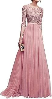Women Maxi Dress,DEATU Women's Chiffon Lace Long Dress Bridesmaid Elegance Evening Prom Gown