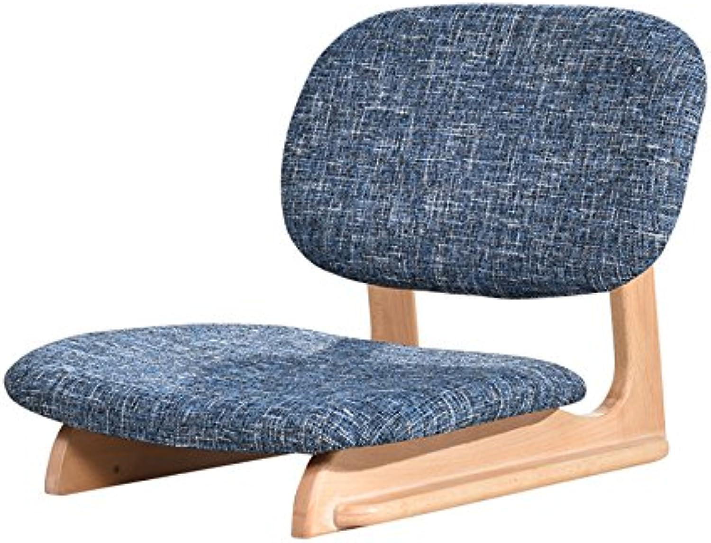 Hocker Stuhl im japanischen Stil, Massivholz Rückenlehne Stuhl Floor Chair Balkon schwimmenden Fenster Schlafsaal einzigen Stuhl 40  50  47 cm Langlebig und sicher zu bedienen (Farbe    1)