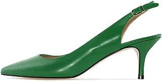 Soireelady - Scarpe col Tacco - Tacco Gattino - con Cinturino Dietro la Caviglia - 6.5CM