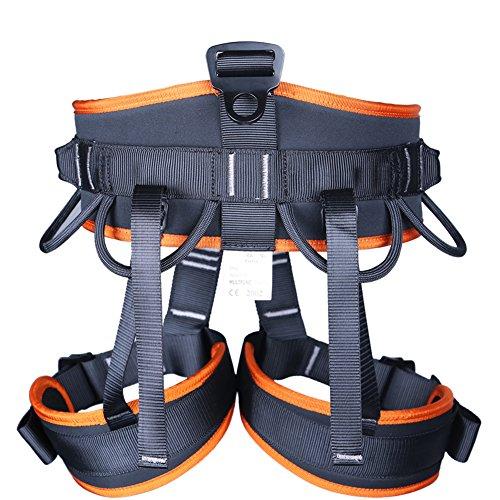 Redcolourful Professionelle Outdoor-Klettern Sicherheitsgurte Sicherheitsgurt für Aerial Work Half Body Harness Sitzgurt ZiplineOrange