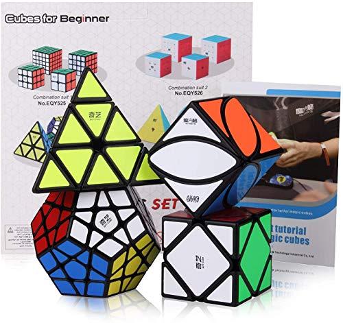 ROXENDA Speed Cube Set, Cubos de Velocidad de Pirámide Megaminx Skew Ivy con Caja de Regalo, Tutorial Secreto para Speed Cubes