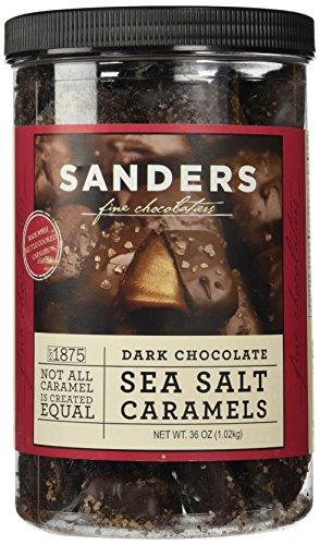 Sanders Dark Chocolate Sea Salt Caramels - 36 ounces (2.25 pounds) by Sanders