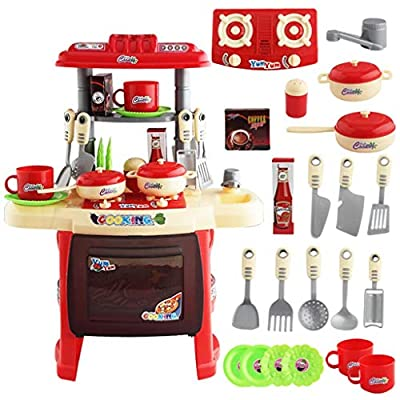 Kids Kitchen Playset,Mini Cooking Food Toys, Ki...