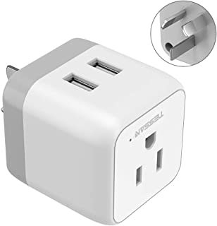 Australia China Power Plug Adapter, TESSAN 3-in-1 New Zealand Travel Plug Adapter with 2 USB Ports, Outlet Adapter for US to Fiji Argentina Australia New Zealand - Type I