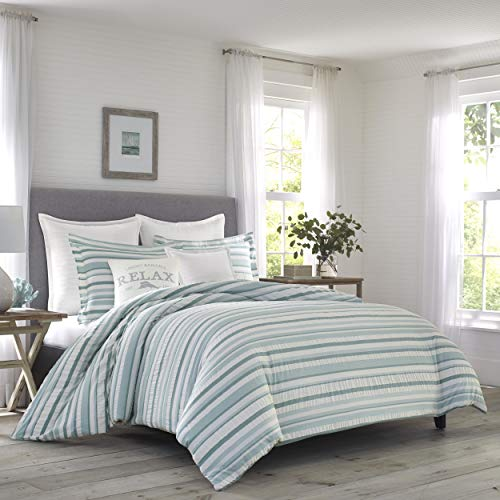 Tommy Bahama Clearwater Cay Duvet Cover Set, King, Blue