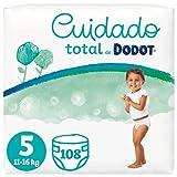 Dodot Pañales Bebé Cuidado Total Talla 5 (11-16 kg), 108 Pañales, Suave Protección de la Piel de Dodot con Ingredientes de Origen Vegetal