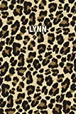 Lynn: Personalized Notebook - Leopard Print (Animal Pattern). Blank College Ruled (Lined) Journal for Notes, Journaling, Diary Writing. Wildlife Theme Design with Your Name
