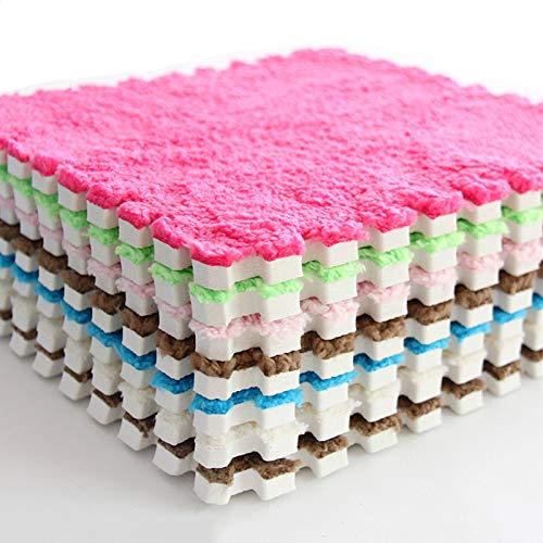 SQUAREDO Alfombra de juegos de espuma EVA para niños, rompecabezas para bebé, alfombra de juegos para niños, alfombra de gimnasio, Rosa, 1 pieza