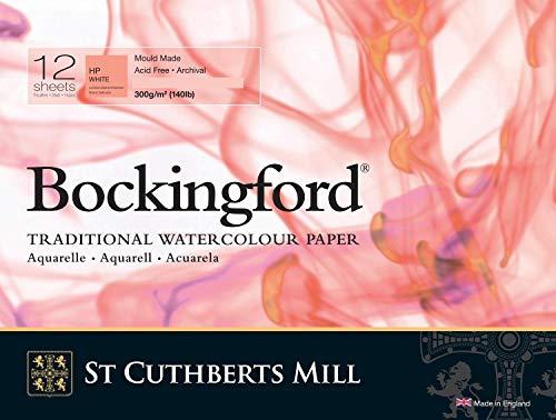 Bockingford Watercolor Spiral Pad 9 X 12 White 140 Pound - Hot Press