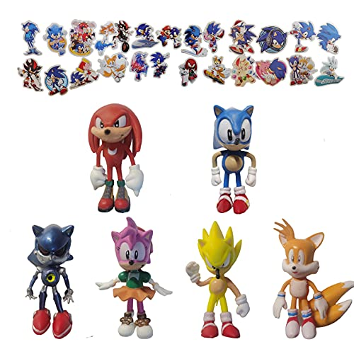 Pequeña figura de Sonic 1.5inch Sonic The Hedgehog doll Animal Toy with 6' Tall