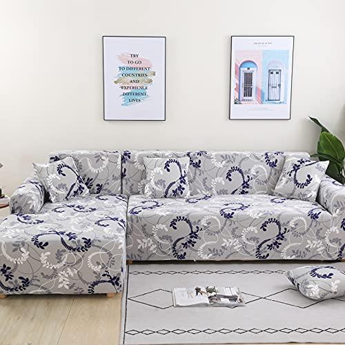 ZOULME L-Form Sofabezug Stretch Elastic Fabric Robustes Staubdichtes Rutschfestes, Waschbares Bedrucktes Muster Universal Couchbezug für das Wohnzimmer