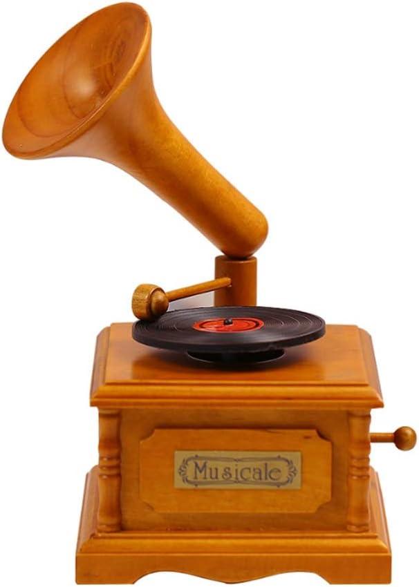 Music Max New Free Shipping 88% OFF Box Retro Gramophone Windup Mechanical Rotating