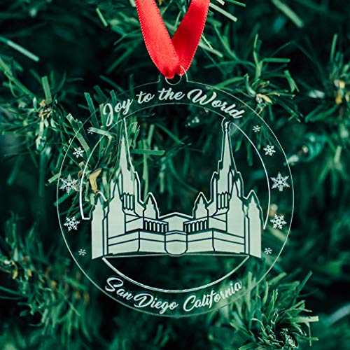 LDS San Diego Temple Ornament - Acrylic