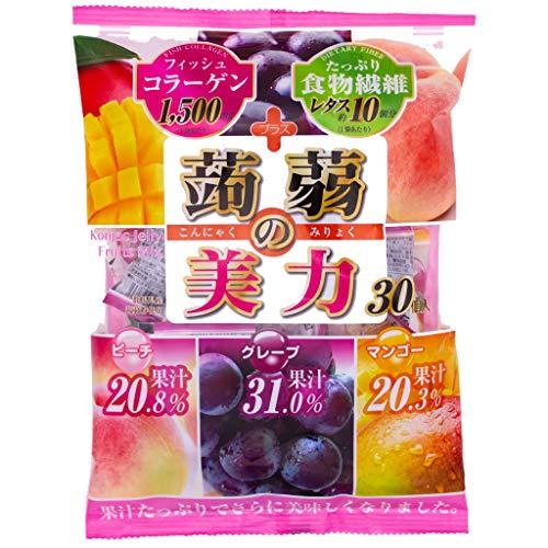 こんにゃくゼリー 【 蒟蒻 の美力 】食物繊維 / コラーゲン 濃い果汁入り 置き換え 蒟蒻 コンニャク ぐんまのこんにゃく 3pack (90個)