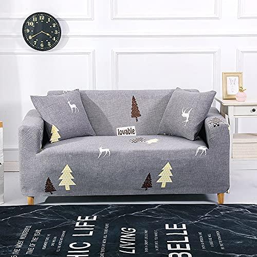 WXQY Funda de sofá geométrica de celosía elástica Funda de sofá Todo Incluido Esquina en Forma de L combinación de Funda de sofá Antideslizante A12 3 plazas