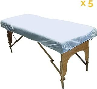 Bclaer72 Housse de lit de Massage Beige /élastique Tout Autour de la Table de Massage l/ég/ère et Portable Taille Unique Drap de lit de Massage Solide en Polyester