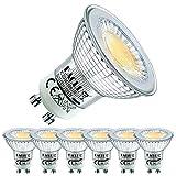 EACLL Bombillas LED GU10 2700K Blanco Cálido 4.9W 430 Lúmenes Equivalente 50W Halógena. 38 ° Luz Blanca Cálida Lámpara Reflectoras Spotlight LED, 6 Pack
