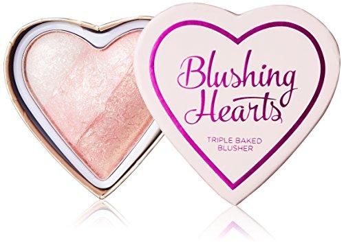 Makeup Revolution London I Love Makeup Blushing Hearts PotrĂljny rĂlĹz do policzkĂlw 10g - Iced Hearts