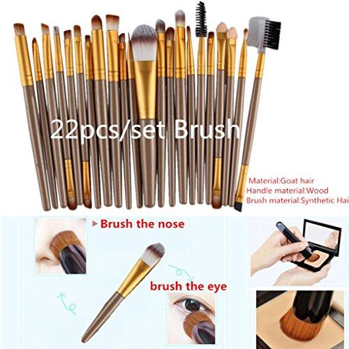 Hunpta 6 pcs Cosmétique Maquillage Brosse lèvres Maquillage Brosse Fard à paupières Brosse