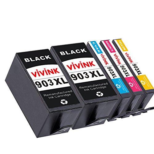 VIVINK 5 Cartuchos de Tinta Compatible para HP 903XL 903 para HP OfficeJet 6950 6960 6970 All-in-One Impresoras (2 Negro /1 Cian /1 Magenta/1 Amarillo )