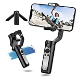 3-Axis Gimbal Stabilizer for Smartphone -Foldable Gimbal for iPhone 11 Pro Max w/Auto 3D Inception & Dolly Zoom Lightweight iPhone Gimbal for Video Recording YouTube Vlog Livestream - Hohem iSteady X