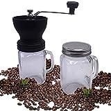 Molinillo café + 2 jarras de cristal (Maquina de cafe). Rodamientos especiales en cerámica para una mejor molienda. Diseño exclusivo, elegante y fácil de usar.