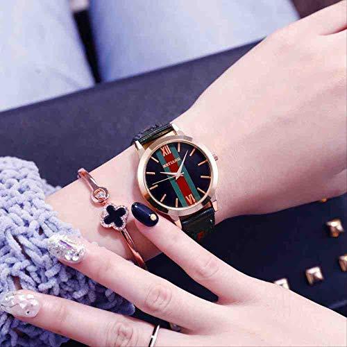 DSNGZ Reloj de Pulsera New Trend Fashion Simple Temperament - Reloj de Cuarzo para Mujer, Negro