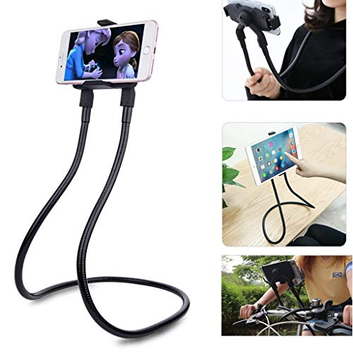 Lazy Neck Phone Holder, Universal Neck Phone Holder for Bed Mobile Phone Stand Flexible Long Arm Gooseneck Stand Multiple Function Lazy Bracket for iPhone 11 Pro Xs Max X 8 7 Samsung S10 and More