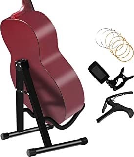 Folding Guitar Stand Floor Rack Electric Acoustic and Bass Guitar Holder