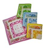 Grab Offers Women's Girls Handkerchiefs Vintage Floral Print Blossom Flower Cotton Hanky (Multicolor)