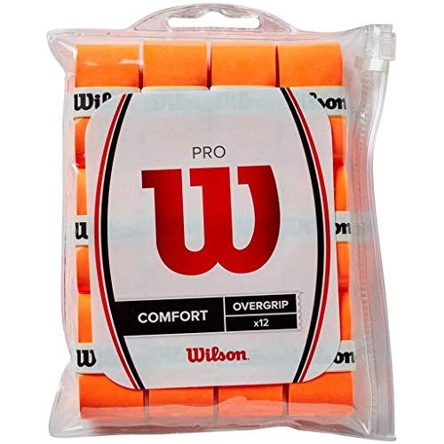 Wilson Pro Overgrip Comfort 12 Pack - Burn Orange - for All Racquet Sports