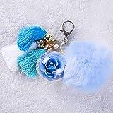 NW 1776 floral hecho a mano nunca se descolora llavero, eterna flor ropa perfecta y accesorios bolsa regalo Día de San Valentín, Navidad, aniversario, cumpleaños